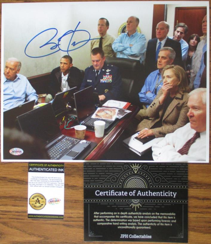 Barack Obama Signed Auto 8.5x11 Bin Ladin Mission - COA