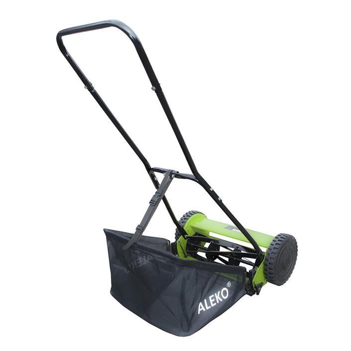 ALEKO - Hand Push Lawn Mower Adjustable Grass Cutting Height