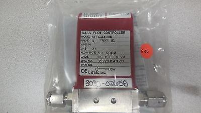 Stec, MFC SEC-4400MC-UC  O2 50 SCCM  Cal Gas N2   AMAT # 3030-02658
