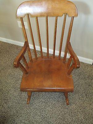 Vintage Nichols & Stone Co. Child's Rocking Chair / Excellent Condition Antique