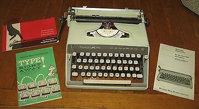Vintage Remington Monarch Portable Manual Typewriter~1961