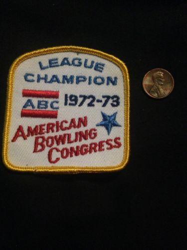 1972-73 WIBC Abc League Champion Vintage Bowling Patch