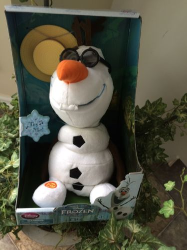 NEW DIsney Singing Doll Olaf NEW IN BOX SINGS AND TALKS-SO ADORABLE