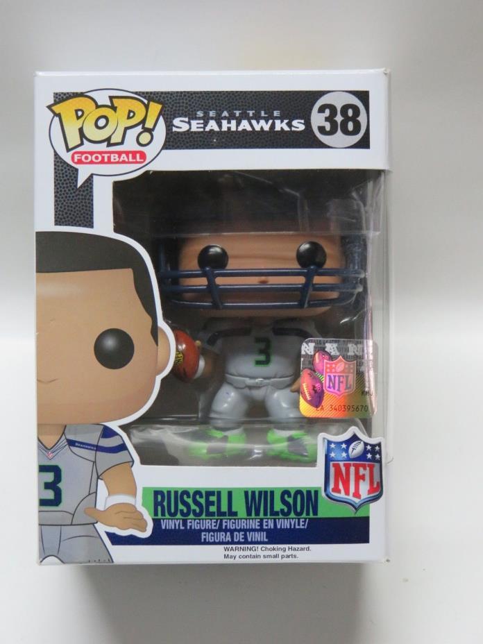 Funko Pop NFL Football RUSSELL WILSON #38 Wave 2 Seattle Seahawks Gray Jersey
