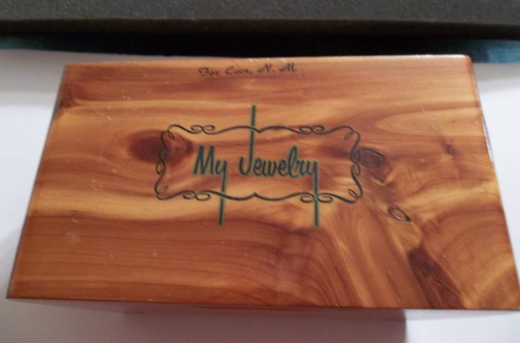 FATHER'S DAY:AMAZING  WOODEN JEWELRY BOX-WITH 2/SETS HICKOK CUFFLINKS  TIE TACK.