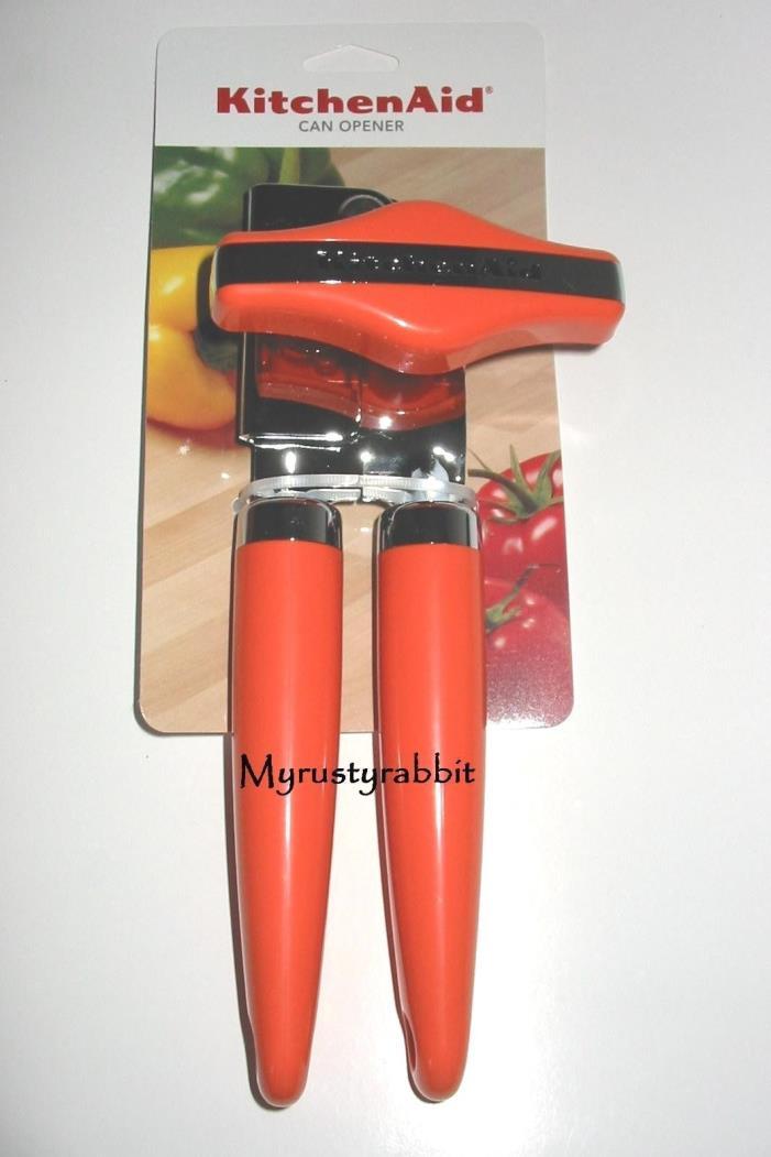 KitchenAid Pumpkin ORANGE Can Opener Kitchen Manual Turn Stainless Steel Blade