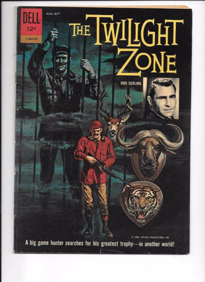 The Twilight Zone #01-860-210 October 1962 Frank Frazetta George Evans art