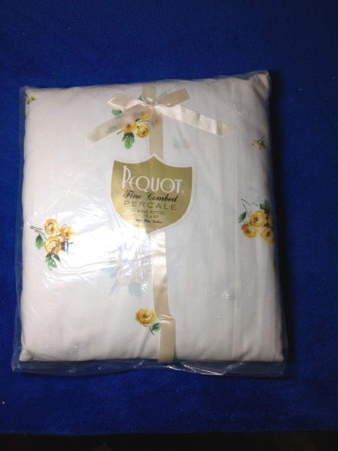 PEQUOT PERCALE KING SIZE SWEETHEART ROSE FITTED SHEET