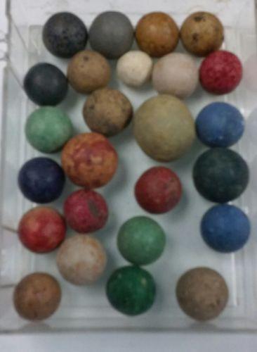 25 clay vintage antique marbles  lot #6