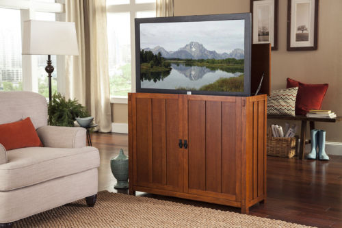 Touchstone 72006 Elevate Mission TV Lift Cabinet, TVs Up To 42 in, Whisper Lift