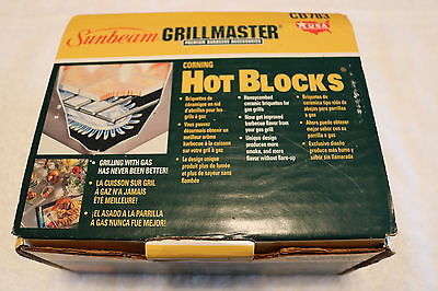 Sunbeam Grillmaster Corning Hot Blocks 15 count NEW CB783
