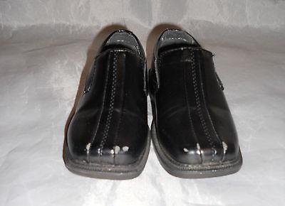 TODDLER BOYS Black Deer Stag Dress Shoes Size 8.5