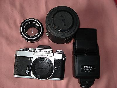 Nikon 50mm f 1.4 lens with Nikkormat EL body