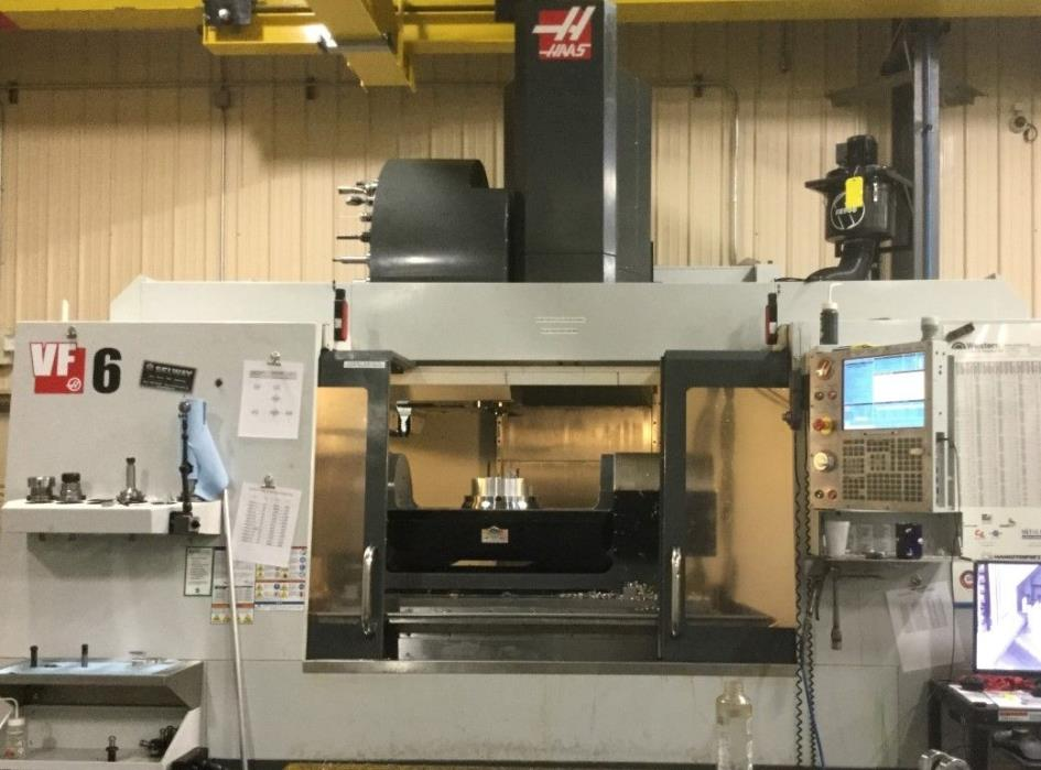 Haas VF-6 50 taper, 10,000 rpm, GB, TSC, 4th and 5th drive, probes and low hrs