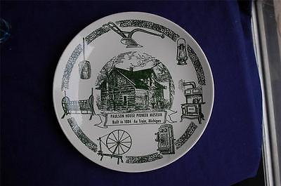 Paulson House Pioneer Museum Collector Plate 1884 Au Train Kettlesprings Kilns