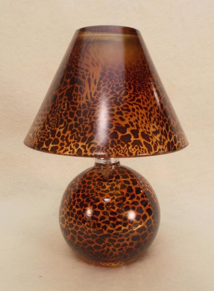 Miniature Glass Oil Lamp with Glass Wick Holder and Glass Shade