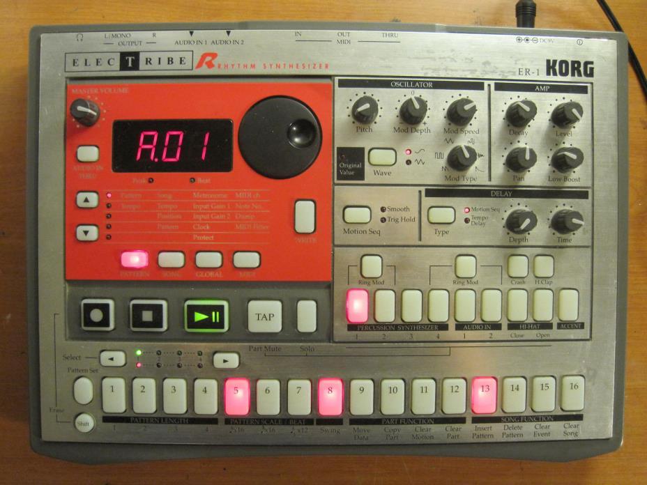 KORG Electribe ER-1 ER1  Rhythm Synthesizer/Synth Drum Machine Step Sequencer