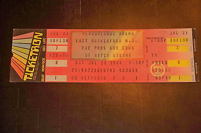 ROGER WATERS/PINK FLOYD 1984 TICKET STUB**PROS AND CONS OF HITCH HIKING**RARE**