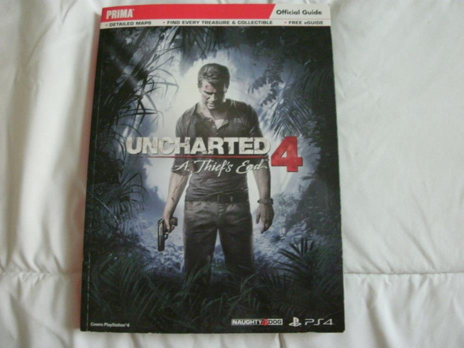 UNCHARTED 4 THE THIEFS END OFFICAL STRATEGY GUIDE SOFTCOVER**FREE SHIPPING!
