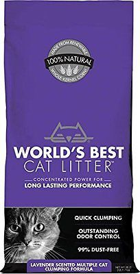 WORLD'S BEST CAT LITTER 391038 Multiple Scented Clumping Formula 28-Pound Pet