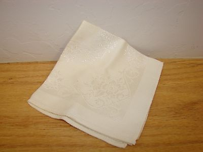 vintage handkie napkin embroidery handkerchief linen hankie collectible floral