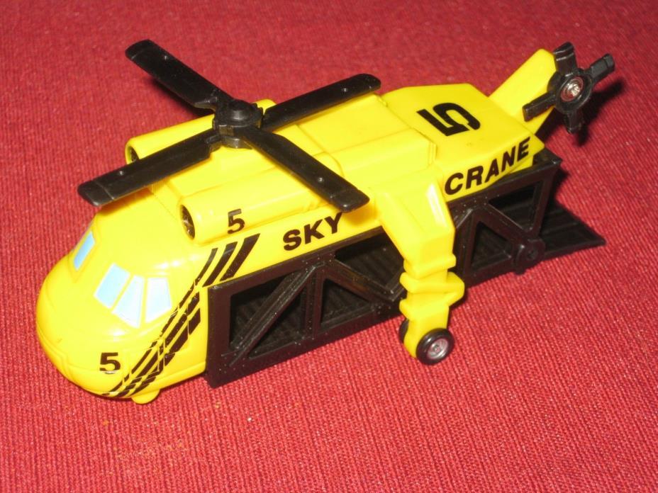 1991 Galoob Micro Machines Sky Crane Yellow/Black Blade Spins w/Wheel Movement