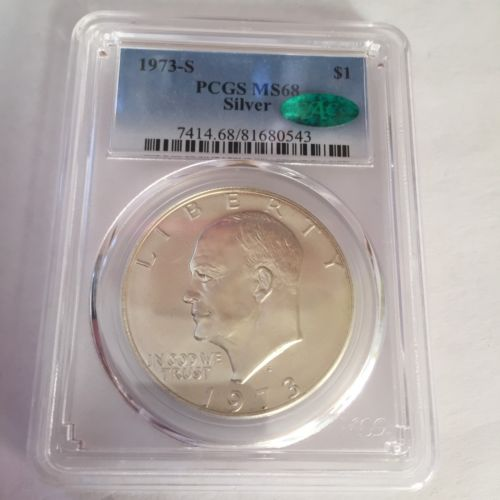 1973-S PCGS MS68 CAC Silver Eisenhower Dollar - CSTCOINS