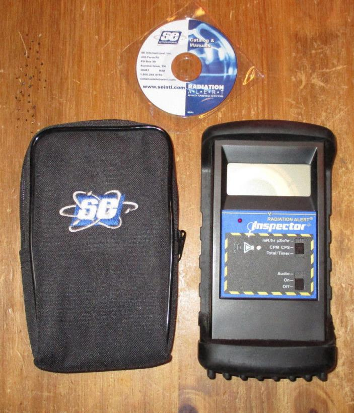 SE International Inspector Plus Radiation Detector Geiger Counter + Xtreme boot