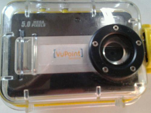 VuPoint DigitalCamera w/ Waterproof Case Scuba Diving Underwater USED
