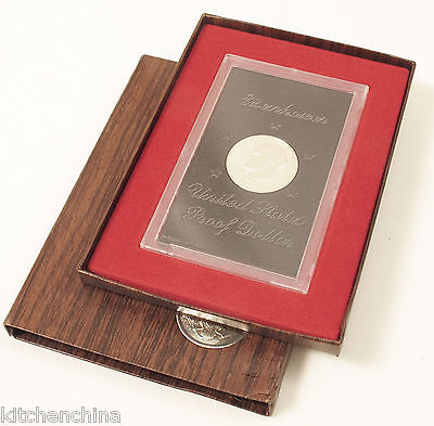 Brown IKE 1973 Eisenhower PROOF Silver Dollar