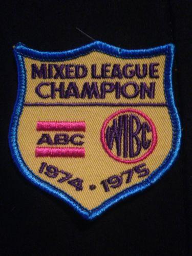 Mixed League Champion Abc WIBC 1974 1975 Vintage Bowling Patch
