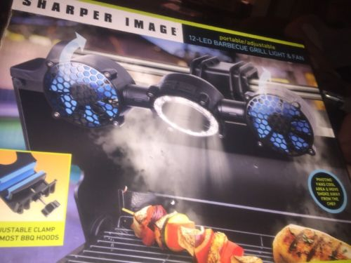 Sharper Image 12-LED Barbecue Grill Light & Fan - Brand New