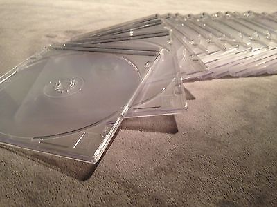 Clear Single CD/DVD Slim Jewel Cases (30 pack)