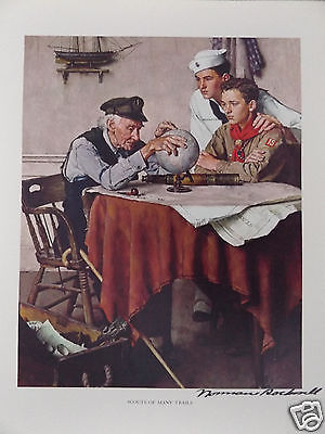 SCOUTS OF MANY TRAILS HAND SIGNED SCOUTING THROUGH THE EYES OF NORMAN ROCKWELL