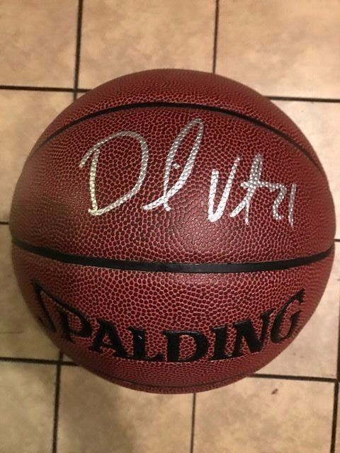 David West Signed Auto Full Size NBA Basketball Golden State Warriors silver