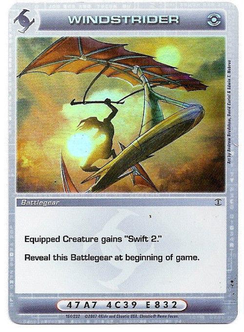 Chaotic Game Card ~ Windstrider Rare ~ Battlegear