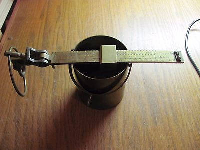 Rare vintage 1# 1 Pound FAIRBANKS Brass Grain Scale