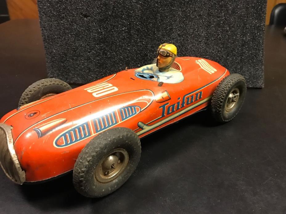 Vintage German tin friction car Taifun 100,Vintage tin toy friction car rare big