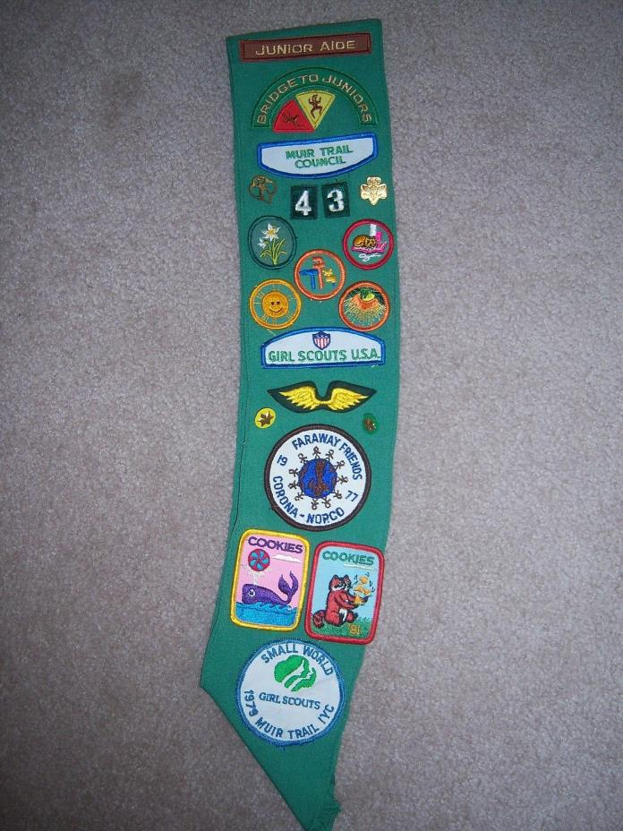 18 Vintage Girl Scout Badges~4 Pins~1 Sach from 70's REDUCED
