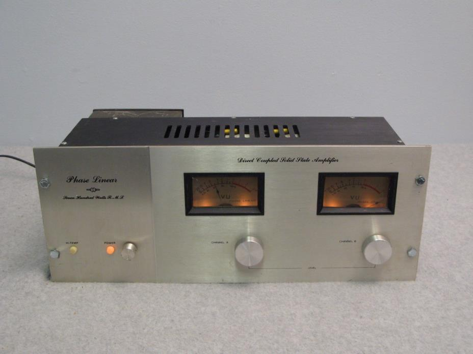 Vintage Phase Linear 700 A Power Amplifier, Powers On - Missing Transistors
