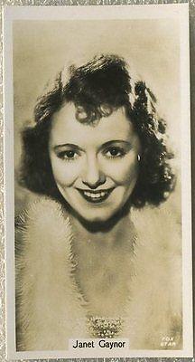 Janet Gaynor 1934 John Sinclair Film Stars Tobacco Card #31