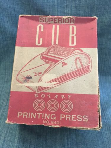 Swiftset Cub Rotary Printing Press With Instructions And Original Box