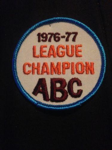 1976-77 League Champion ABC Vintage Bowling Patch