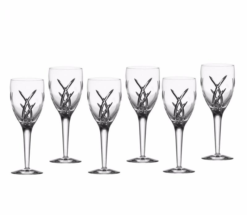 Set of 6 Waterford Crystal John Rocha Signature Water Goblets
