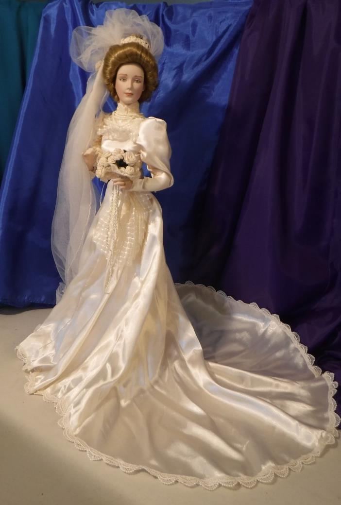 Gibson Girl Bride Doll Franklin Heirloom Bisque Porcelain 1987