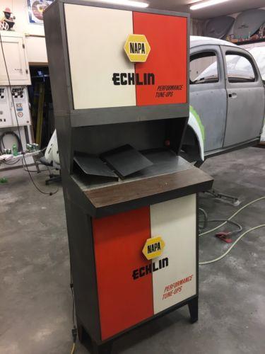 Napa Echlin Ignition Parts Cabinet. Vintage Auto Parts Metal Cabinet.