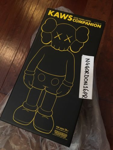 Kaws 5YL Companion NEW FACTORY SEALED Black 2004 AUTHENTIC - LIMITED EDITION 500