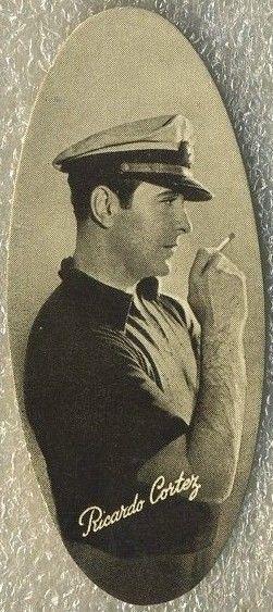Ricardo Cortez 1934 Carreras Film Stars Oval Tobacco Card #24