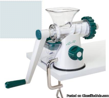 Wheatgrass manual juicer