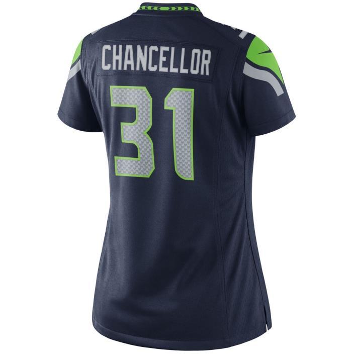 Nike Seahawks Kam Chancellor #31 Limited Women's Jersey - SZ SM Navy 469884 430